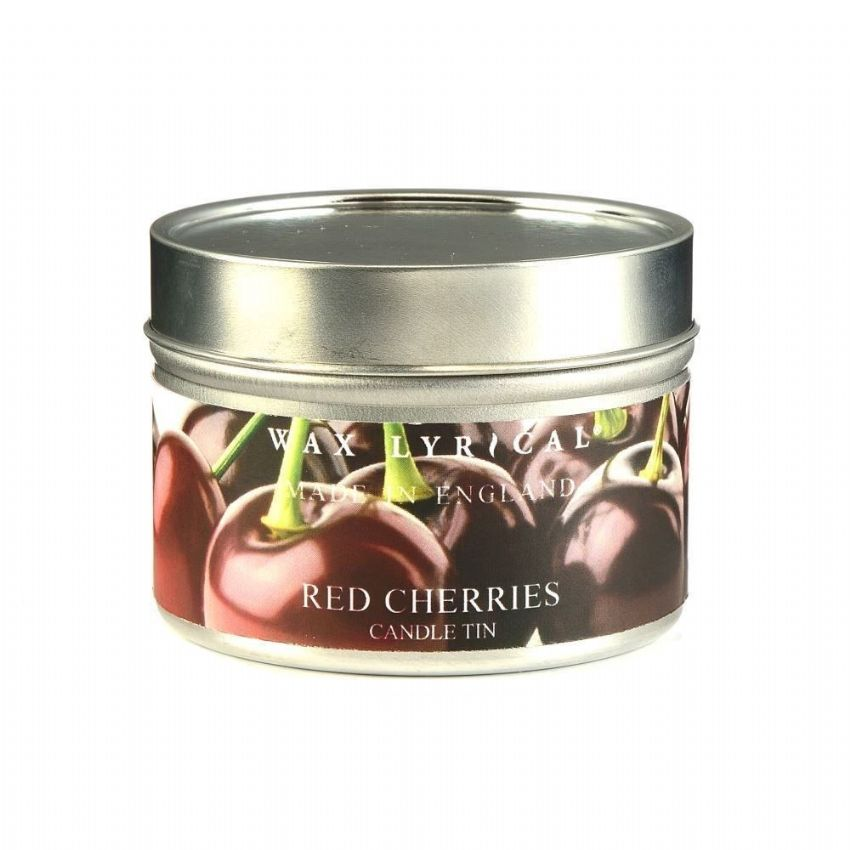 Red Cherries TIN Made In England Scented Candles Wax Lyrical 16 Hours